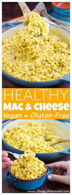 This healthy and easy mac and cheese recipe is my all time favorite macaroni recipe! It's SO creamy and cheesy! Vegan.