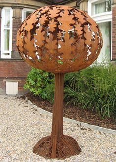 Balloon tree sculpture outside ward 1 at Bootham Park Hospital