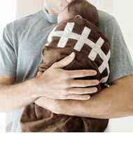 Football Sports Baby Blanket.... love.