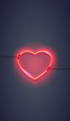 I wallpaper, neon light wallpaper, heart iphone wallpaper, rose gold wallpa Neon Wallpaper, Heart Wallpaper, Wallpaper Iphone Cute, Tumblr Wallpaper, Aesthetic Iphone Wallpaper, Mobile Wallpaper, Wallpaper Quotes, Aesthetic Wallpapers, Cute Wallpapers