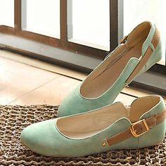 Solo 2014 zapatos mocasines de tacón plano plano zapatos del barco ronda del dedo del pie de cuatro en de en Aliexpress.com