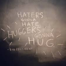 Be a hugger not a hater. Donate to rowan house this socktober