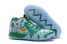 7a6711603c4 Nike Kyrie 4 Boston Celtics Green White Gold Basketball Shoes