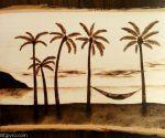 Relaxing on the beach -- Wood burning - Remake by brandojones