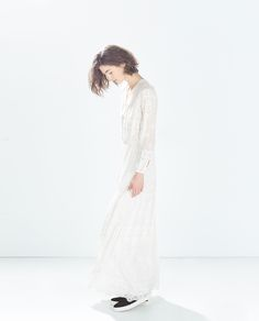 Image 2 of LONG EMBROIDERED DRESS from Zara