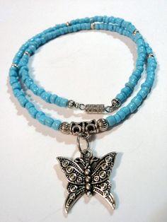 Handmade Hippie Boho Gypsy Blue Glass Beaded by TheSeaSideBazaar