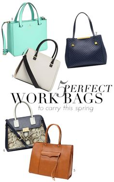 5 Spring Bags that are PERFECT for Work!