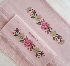 Cross Stitch Borders, Cross Stitch Patterns, Brazilian Embroidery, Crewel Embroidery, Diy And Crafts, Canvas, Sewing, Floral, Crossstitch