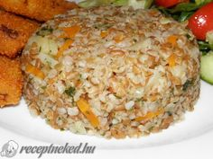 Zöldséges bulgur Fried Rice, Ethnic Recipes, Food, Bulgur, Hoods, Meals, Nasi Goreng, Stir Fry Rice, Baked Rice