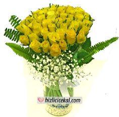 51 Adet Sarı Gül Vazosu  Hızlı Çiçek Al ile sevdiklerinize aynı gün teslimat seçeneği ile cam vazo içinde 51 adet sarı güller sipariş edin.  http://www.hizlicicekal.com/cicekler/cicekciler/cicek/68/51-adet-sari-gul-vazosu/