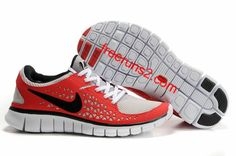 Mens Nike Free Run Red Black Shoes