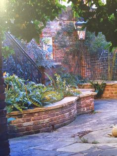 RD: I love the antique brick, curved lines and rough hewn cap used in this raised bed. built by Lance Leader. Raised Garden Planters, Raised Garden Beds, Raised Beds, Big Planters, Brick Paving, Brick Path, Stone Landscaping, Front Yard Landscaping, Backyard Patio