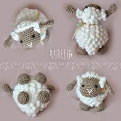 ergahandmade: Crochet Lamb Amigurumi + Free Pattern + Videos Bobble Crochet, Free Crochet, Crochet Baby, Easter Crochet, Crochet For Kids, The Whoot, Crochet Animals, Yarn Crafts, Baby Hats