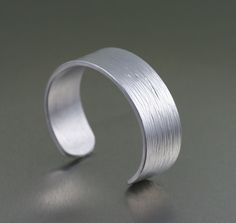 Aluminum Bark Cuff Bracelet - Right View