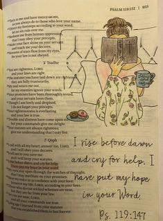 Psalm 119:147 Bible Journaling