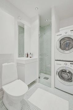Small Bathroom with Laundry Layout - Small Bathroom with Laundry Layout, 85 Functional Small Laundry Room Design Ideas Laundry Bathroom Combo, Bathroom Shower Doors, Basement Laundry, Small Laundry Rooms, Laundry Room Organization, Laundry Room Design, Glass Shower, Frameless Shower, Basement Bathroom Ideas