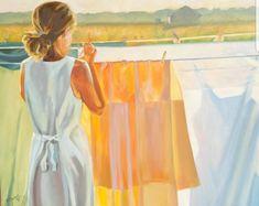 #Sonne #Wäscheaufhängen #laundry #transparent #Hausarbeit #Dekoration Etsy Seller, Summer Dresses, Fashion, Painted Canvas, Housekeeping, Sun, Decorations, Moda, Summer Sundresses