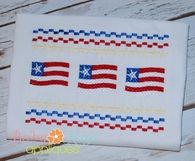 Flag and Stars Faux Smock 4x4, 7x3, 7x5