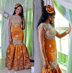 Traditional wedding dress idea, can be made with different color combination