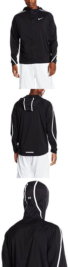 Jackets and Vests 59353: New Nike Men S Impossibly Light Hooded Running Jacket, Black White, Large -> BUY IT NOW ONLY: $54.95 on eBay!
