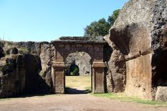 Door of the roman amphitheater of Sutri, Viterbo