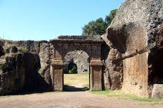 Door of the roman amphitheater of Sutri, Viterbo