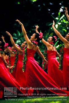 Hula dancers perform at Prince Lot festival, Oahu
