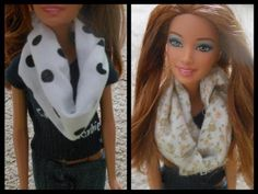 how to make doll infinity scarf