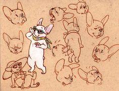 French Bulldog, illustration.