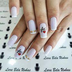 Gel Acrylic Nails, Acrylic Nail Designs, Gorgeous Nails, Pretty Nails, Luminous Nails, Glitter French Manicure, Nails Short, Manicure E Pedicure, Beautiful Nail Designs