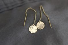 gold earrings delicate gold earrings gold ear by greygoosegifts