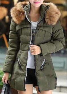 170902c4e2f Long Sleeve Winter Coat with Zip Winter Coats Women