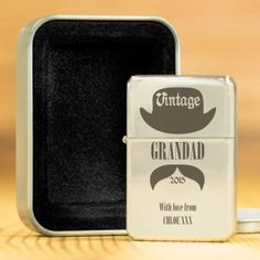 Personalised Lighter with Presentation Box - Vintage Gent