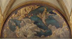 Hell, 1916 Oil on canvas with Lincrusta-Walton reliefs 254.6 x 507.4 cm Sargent Hall, west wall (after treatment)