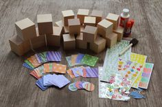 Everyone decorates a block for the baby. Then the baby will have a full set to play with when older!