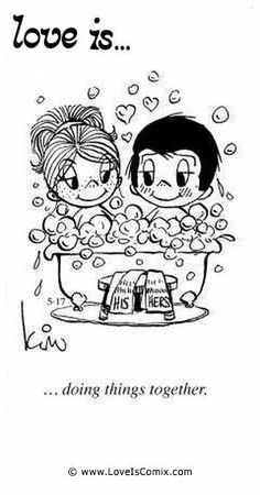 ideas for bath tub fun thoughts Love Is Cartoon, Love Is Comic, Save My Marriage, Love And Marriage, Marriage Advice, Beautiful Love, Cute Love, Bubble Quotes, Happy Love