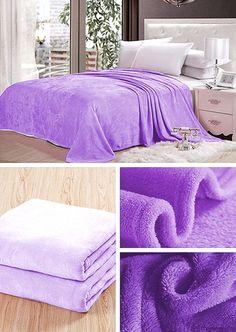 Jasnofioletowe koce na łóżko do sypialni