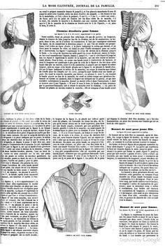 1861 La Mode Illustree. Night-caps.