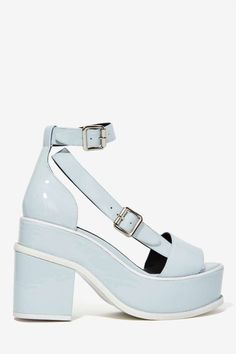 YES Agate Patent Leather Platforms - Heels | Open Toe |  | Heels | Platforms | Shoes