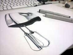 Orhan Okay design sketch copic industrial draw