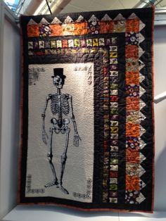 Mr. Bones quilt by Heidi Pridemore, made using our Chillingsworth collection. Get the pattern here: http://www.thewhimsicalworkshop.com/