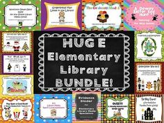 Save just over 20% when you buy this bundle of 14 products that will help engage your students during your library media classes, encourage your students to read and share more books and help you with your professional organization and yearly evaluation.