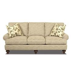 Brette Low Profile Rolled Arm Sofa by Klaussner, 87Wx41Dx36H