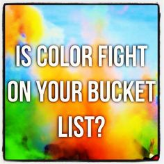 Is color fight on your bucket list? Get a couple of bags of colored cornstarch from Color My Party and mark it off your list!