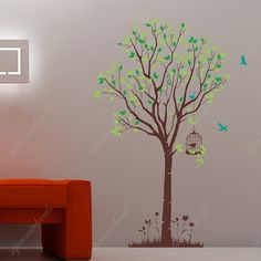 Tree with flying birds Vinyl Wall Decals Stickers by PopDecals £35