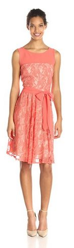 pretty dress that can be dressed up or worn more casual. Womens Sleeveless Lace Dress