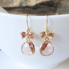 Sparkle Drop Earrings Dangle Earrings Wedding by ellejewels, $22.50