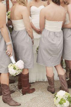 cowboy boots & grey