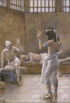 Joseph Interprets the Dreams While In Prison - James Jacques Joseph  Tissot, c.1902