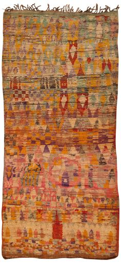 View this beautiful primitive vintage Moroccan Rug 45341 from Nazmiyal's fine antique rugs and decorative carpet collection in NYC. Persian Carpet, Persian Rug, Textiles, Tapetes Vintage, Magic Carpet, Large Rugs, Tribal Rug, Woven Rug, Floor Rugs